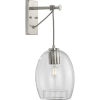 This item: Caisson Brushed Nickel Eight-Inch One-Light ADA Wall Sconce
