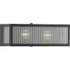 This item: Dwyer Matte Black 14-Inch Two-Light Bath Vanity with Clear Ribbed Shade