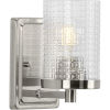 This item: Fawcett Brushed Nickel Five-Inch One-Light Bath Vanity with Clear Shade