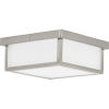 This item: Brushed Nickel 10-Inch LED Flush Mount with Etched Shade
