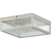 This item: Dwyer Stainless Steel 11-Inch Two-Light Flush Mount with Clear Ribbed Shade
