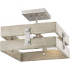 This item: Hemsworth Galvanized Finish 14-Inch Two-Light Semi-Flush Mount