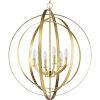 This item: Equinox Satin Brass 30-Inch Six-Light Pendant