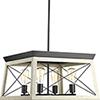 This item: P400047-143: Briarwood Graphite Four-Light Chandelier