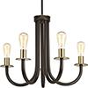This item: P400050-020: Swing Antique Bronze Five-Light Chandelier