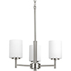 This item: P4318-09: Replay Brushed Nickel Three-Light Chandelier with Etched Glass