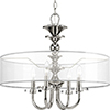 This item: P500043-104: Marché Polished Nickel Four-Light Pendant