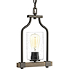 This item: P500056-020: Barnes Mill Antique Bronze One-Light Mini Pendant with Clear Seeded Glass