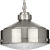 This item: Loftin Brushed Nickel 15-Inch One-Light Pendant