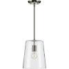 This item: Clarion Brushed Nickel Nine-Inch One-Light Mini Pendant