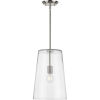 This item: Clarion Brushed Nickel 11-Inch One-Light Pendant