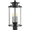 This item: P540012-031: Squire Black Three-Light Outdoor Post Lantern