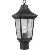 This item: Marquette Textured Black Nine-Inch One-Light Outdoor Post Mount with Clear Water Shade