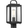 This item: Grandbury Textured Black Seven-Inch One-Light Outdoor Post Mount with Clear Shade