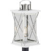 This item: Barlowe Stainless Steel Nine-Inch One-Light Outdoor Post Mount with Clear Seeded Shade