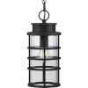 This item: Port Royal Textured Black Six-Inch One-Light Outdoor Pendant with Clear Shade
