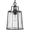 This item: Benton Harbor Textured Black Nine-Inch One-Light Outdoor Pendant with Clear Shade