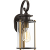 This item: P560036-020: Squire Antique Bronze One-Light Outdoor Wall Mount