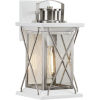 This item: Barlowe Stainless Steel Seven-Inch One-Light Outdoor Wall Sconce with Clear Seeded Shade