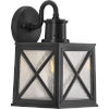 This item: Seagrove Textured Black Eight-Inch One-Light Outdoor Wall Sconce with Clear Seeded Shade
