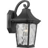 This item: Marquette Textured Black Seven-Inch One-Light Outdoor Wall Sconce with Clear Water Shade