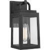 This item: Grandbury Textured Black Six-Inch One-Light Outdoor Wall Sconce with Clear Shade
