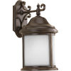This item: Ashmore Antique Bronze Nine-Inch One-Light Outdoor Wall Sconce with Etched Water Seeded Shade
