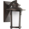 This item: Pedigree Autumn Haze Nine-Inch One-Light Outdoor Wall Sconce with Etched Seeded Shade