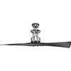 This item: P2570-15: Spades Polished Chrome 56-Inch Ceiling Fan
