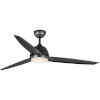 This item: Oriole Black 60-Inch LED One-Light Ceiling Fan