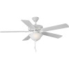 This item: White 52-Inch LED Two-Light Ceiling Fan