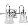 This item: P300138-015: Litchfield Polished Chrome Two-Light Bath Vanity