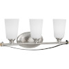 This item: Nealy Brushed Nickel Three-Light Bath Fixture With Etched White Glass