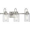 This item: Aiken Brushed Nickel Three-Light Bath Vanity Light