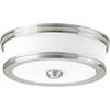 This item: P350085-009-30: Bezel LED Brushed Nickel Energy Star LED Flush Mount