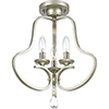 This item: P350094-134: Anjoux Silver Ridge Three-Light Semi Flush Mount