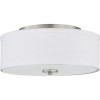 This item: Brushed Nickel LED One-Light Flush Mount With Fabric Shade