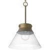 This item: Aged Brass One-Light Semi-Flush