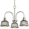 This item: P400073-009: Tilley Brushed Nickel Three-Light Chandelier