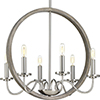 This item: P400081-009: Fontayne Brushed Nickel Six-Light Chandelier