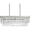 This item: P400101-134: Glimmer Silver Ridge Four-Light Chandelier