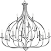 This item: P400110-015: Tinsley Polished Chrome 15-Light Chandelier