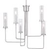 This item: Rainey Brushed Nickel Five-Light Chandelier With Transparent Ribbed Glass