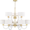 This item: Rigsby Vintage Gold Nine-Light Chandelier