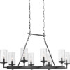 This item: Gresham Graphite Eight-Light Chandelier With Transparent Seeded Glass