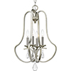 This item: P500099-134: Anjoux Silver Ridge Four-Light Chandelier
