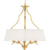 This item: Brushed Bronze Six-Light Pendant With Linen Shade
