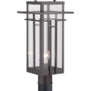 This item: Antique Bronze One-Light Outdoor Post Lantern With Transparent Seeded Glass
