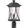 This item: Abbott Antique Bronze One-Light Outdoor Post Lantern With Transparent Seeded Glass