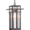 This item: Antique Bronze One-Light Outdoor Hanging Lantern With Transparent Seeded Glass